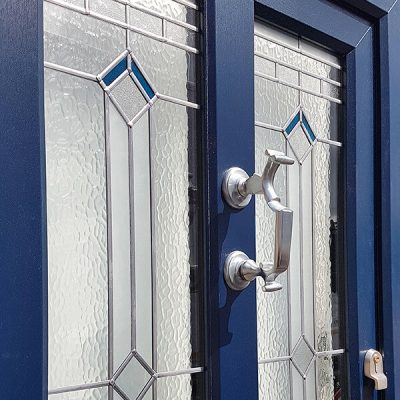 Blue uPVC entrance door