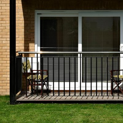 White uPVC Patio door and decking