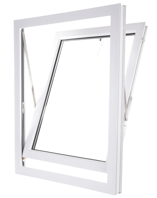 White uPVC Reversible window frame