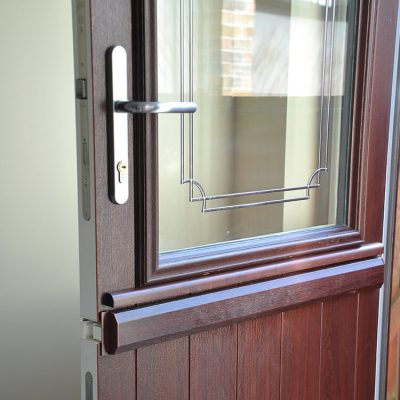 Rosewood colour uPVC stable door