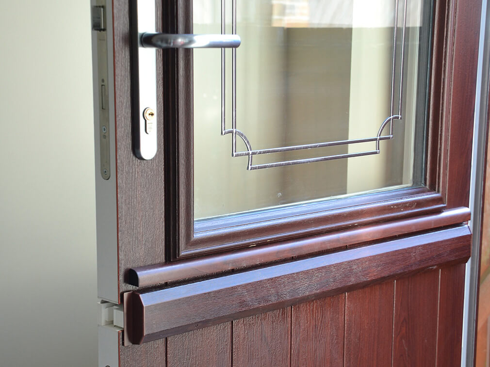 Rosewood uPVC stable door close up