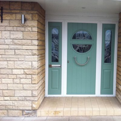Chartwell Green Solidor composite door