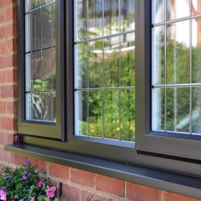 Grey uPVC Casement Windows from Calibre