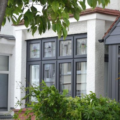 Grey Casement Windows by Climatec uPVC