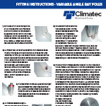 Fitting Instructions - Vari Angle Bay Poles