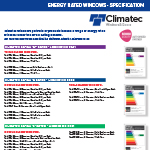 Energy Rating Specificatons
