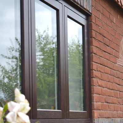 Flush Sash Window in Rosewood