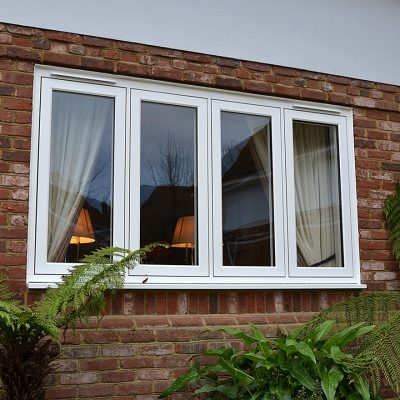 R7 White Flush Sash Window