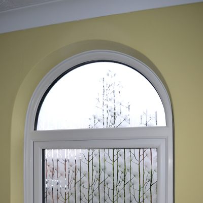 Rehau shaped casement window