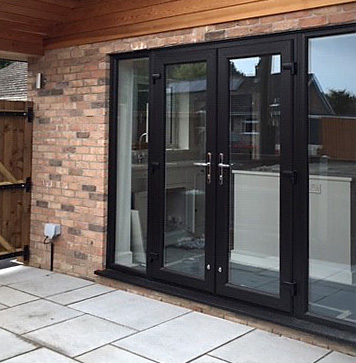Black Brown French Doors